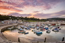 Lyme Regis near Patson Hill's Visit England four star gold holiday cottages